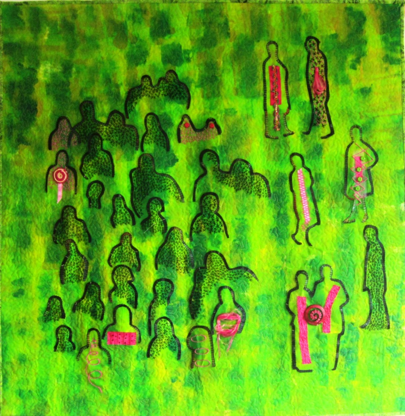 groene mannetjes kunst