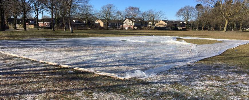 Vernielde ijsbaan