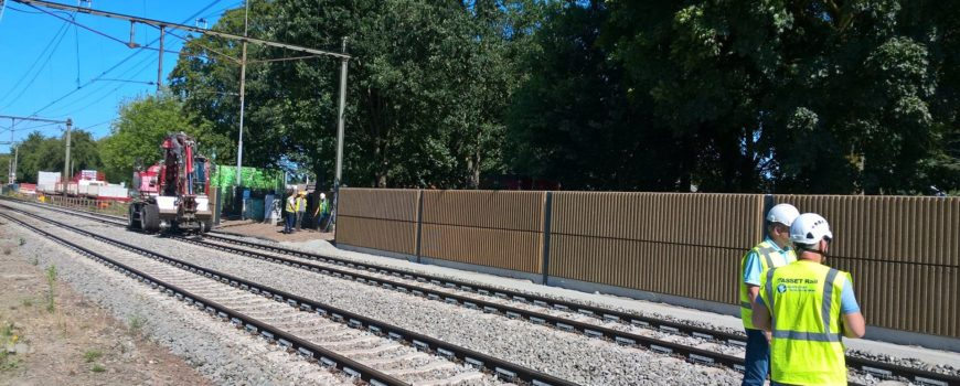 Geluidsschermen bij spoor in Deurne
